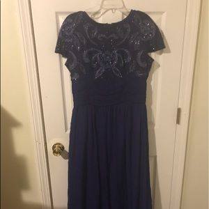 Adrianna pappell evening gown royal blue 14